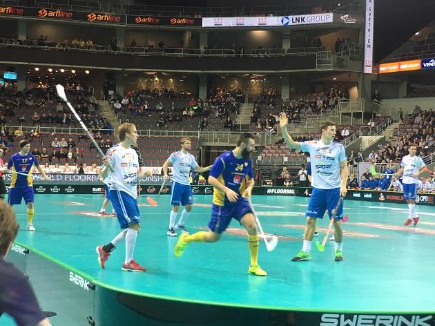 Salibandyn MM-finaali on käynnissä Riiassa. Kuva: Jussi Ojala
