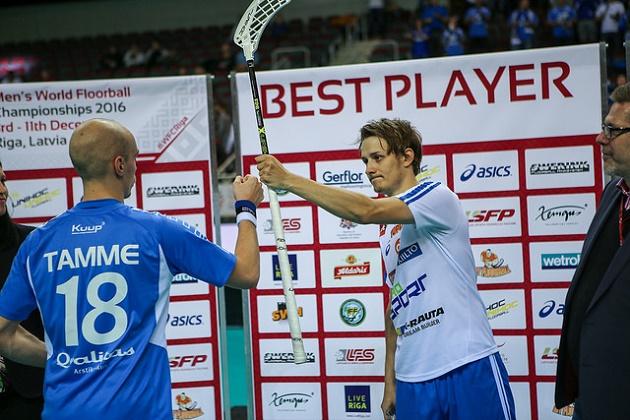 Kotilainen valittiin kahdessa alkusarjan ottelussa Suomen parhaaksi. Kuva: IFF