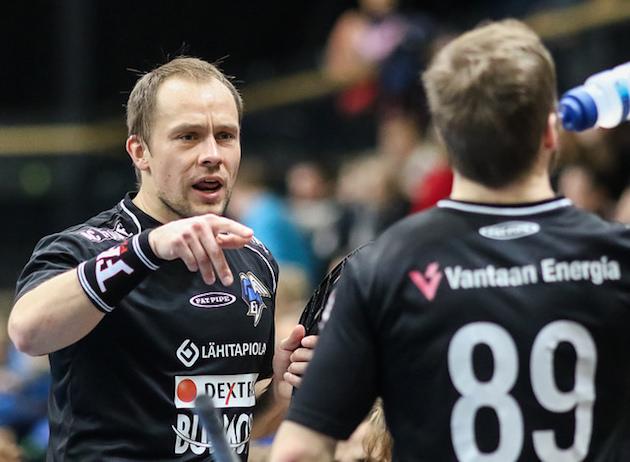 Tom Strömsten ampui kaksi maalia SalBan verkkoon. Kuva: Mika Hilska.