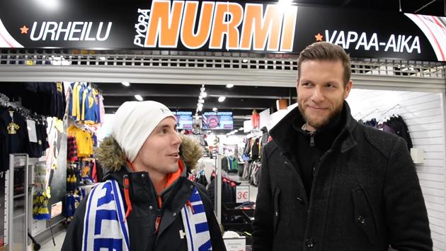 Eetu Setänen (oik.) saattaa päästä lenkkeilypuuhiin kauden päätyttyä. Kuva: Kuvakaappaus videolta