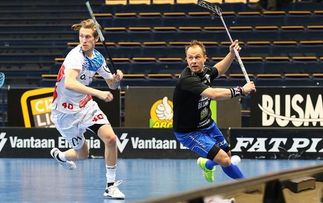Tom Strömstenin, 35, ensimmäinen liigapeli on kaudelta 2003-2004. Menevällä sesongilla hän edustaa EräViikinkejä. Kuva: Juhani Järvenpää