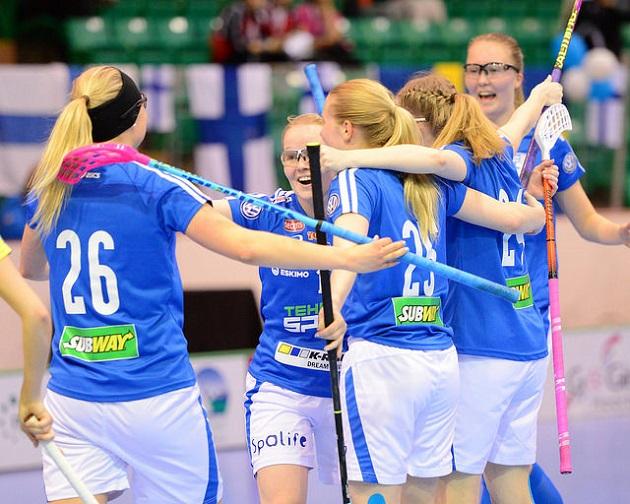 Tyttöjen U19-maajoukkue sijoittui toiseksi viime kevään MM-kisoissa. Arkistokuva: IFF